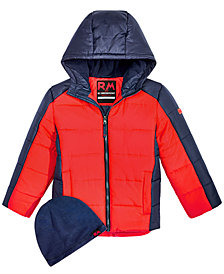 RM 1958 Little Boys Branson Colorblocked Hooded Jacket with Hat