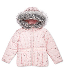 S. Rothschild Toddler Girls Foil Print Puffer Jacket