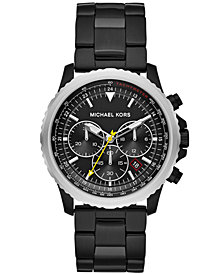 Michael Kors Men's Chronograph Theroux Black Stainless Steel Bracelet Watch 42mm