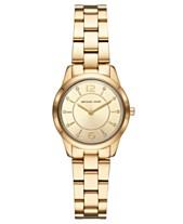 bffdab7de5bb Michael Kors Women s Mini Runway Gold-Tone Stainless Steel Bracelet Watch  28mm