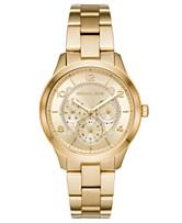 1c6a0515bdd0 Michael Kors Women s Runway Gold-Tone Stainless Steel Bracelet Watch 38mm