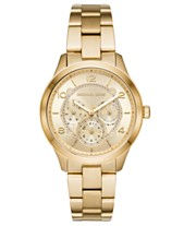 8841f19381a8 Michael Kors Women s Runway Gold-Tone Stainless Steel Bracelet Watch 38mm