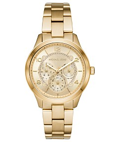 0bc7923dc8b42 Michael Kors Women's Runway Gold-Tone Stainless Steel Bracelet Watch 38mm