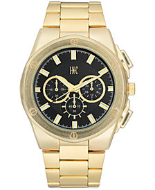 I.N.C. Men's Gold-Tone Bracelet Watch 44.5mm, Created for Macy's