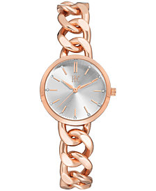 I.N.C. Women's Rose Gold-Tone Chain Bracelet Watch 30mm, Created for Macy's
