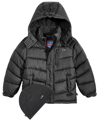 3f59bc0d9 CB Sports Hooded Puffer Coat, Little Boys & Reviews - Coats ...