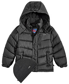 CB Sports Hooded Puffer Coat, Little Boys