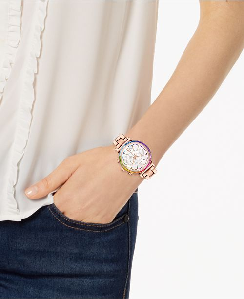 801703e57103 ... Michael Kors Women s Sofie Rose Gold-Tone Stainless Steel Bracelet Watch  ...