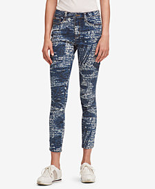 DKNY Splatter Logo Everywhere Skinny Jeans, Created for Macy's