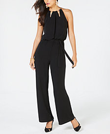 Thalia Sodi Chain-Neck Jumpsuit