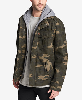 026b1fcda779 Levi s Men s Two Pocket Hooded Trucker Jacket   Reviews - Coats ...