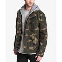 Deals on Levis Men's Sherpa Lined Two Pocket Hooded Trucker Jacket
