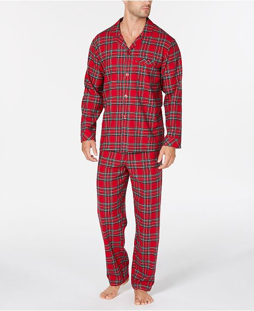 3cbf6a79582f ... Family Pajamas Matching Men's Brinkley Plaid Pajama Set, Created for  Macy's ...