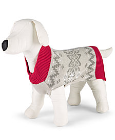Matching Family Pajamas Winter Fairisle Pet Sweater, Created for Macy's
