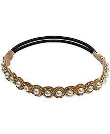 Deepa Gold-Tone Imitation Pearl Stretch Headband