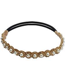 Deepa Gold-Tone Imitation Pearl Stretch Headband