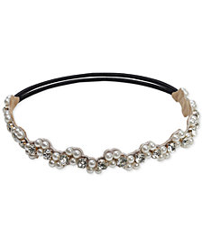 Deepa Imitation Pearl & Rhinestone Stretch Headband