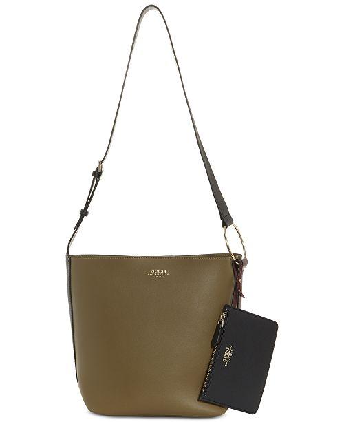 b84165e560bfb GUESS Ella Bucket Shoulder Bag   Reviews - Handbags   Accessories ...