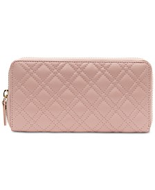 Quilted Leather Zip-Around Wallet