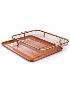 Non-Stick Ti-Ceramic Heat Circulating Large Crisper Tray
