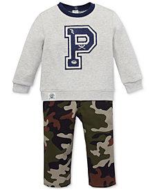 Ralph Lauren Baby Boys Sweatshirt & Camouflage Jeans Set
