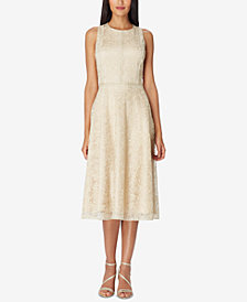 Tahari ASL Lace Midi Dress