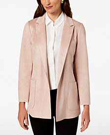 Charter Club Woven Faux-Suede Blazer, Created for Macy's