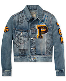 Polo Ralph Lauren Big Boys Graphic Denim Cotton Jacket