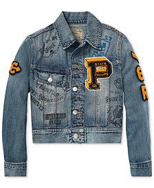 Polo Ralph Lauren Big Boys Graphic Denim Cotton Jacket