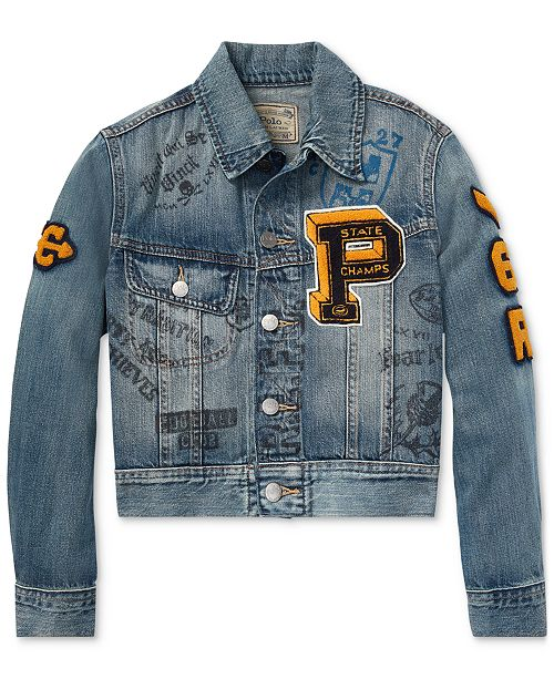 e03653f1e Polo Ralph Lauren Big Boys Graphic Denim Cotton Jacket   Reviews ...