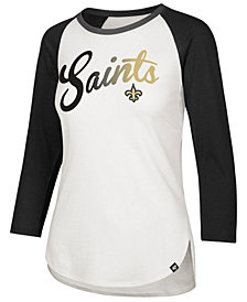 '47 Brand Women's New Orleans Saints Splitter Ombre Raglan T-Shirt