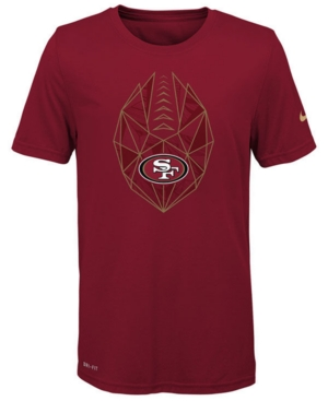 Nike San Francisco 49ers Football Icon T-Shirt, Big Boys (8-20)