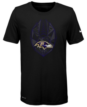 Nike Baltimore Ravens Football Icon T-Shirt, Big Boys (8-20)
