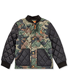 Polo Ralph Lauren Little Boys Camouflage Quilted Baseball Jacket