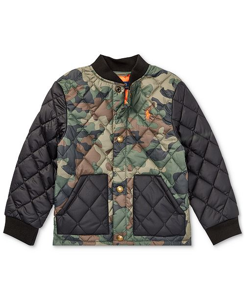 3692a8117510 Polo Ralph Lauren Little Boys Camouflage Quilted Baseball Jacket ...