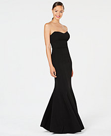 Teeze Me Juniors' Strapless Mermaid Gown