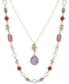"lonna & lilly Gold-Tone Stone & Bead 34"" 2-in-1 Necklace"