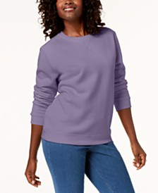 Karen Scott Petite Crew-Neck Sweatshirt, Created for Macy's