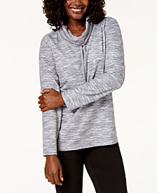 Karen Scott Funnel-Neck Top, Created for Macy's