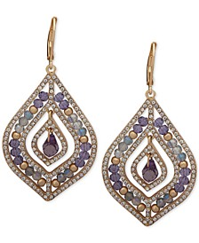 Pavé & Stone Beaded Chandelier Earrings
