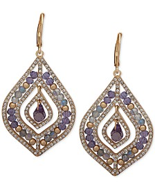 lonna & lilly Pavé & Stone Beaded Chandelier Earrings