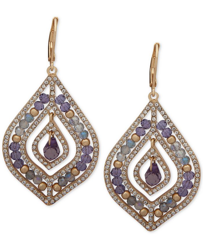 lonna & lilly - Pavé & Stone Beaded Chandelier Earrings