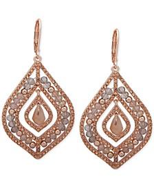 Pavé & Stone Beaded Chandelier Earrings