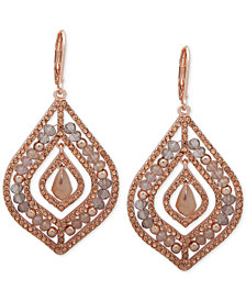 lonna & lilly Pavé & Stone Beaded Chandelier Earrings