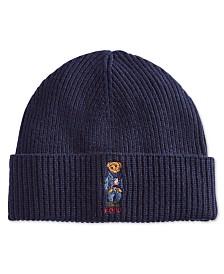 Polo Ralph Lauren Men's Polo Bear Blue Jean Jacket Cuffed Hat