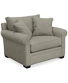 """Dial II 49"""" Fabric Armchair with 2 Toss Pillows"""