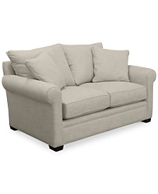 """Dial II 67"""" Fabric Loveseat with 2 Toss Pillows"""