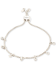DKNY Crystal Bezel Dangle Slider Bracelet