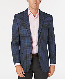 Tommy Hilfiger Men's Modern-Fit THFlex Stretch  Gray/Blue Check Sport Coat
