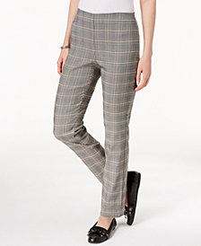 Charter Club Chelsea Plaid Pull-On Ankle Pants, Created for Macy's